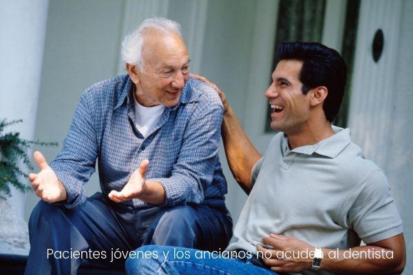 Los pacientes jóvenes y los ancianos son los que menos acuden al dentista